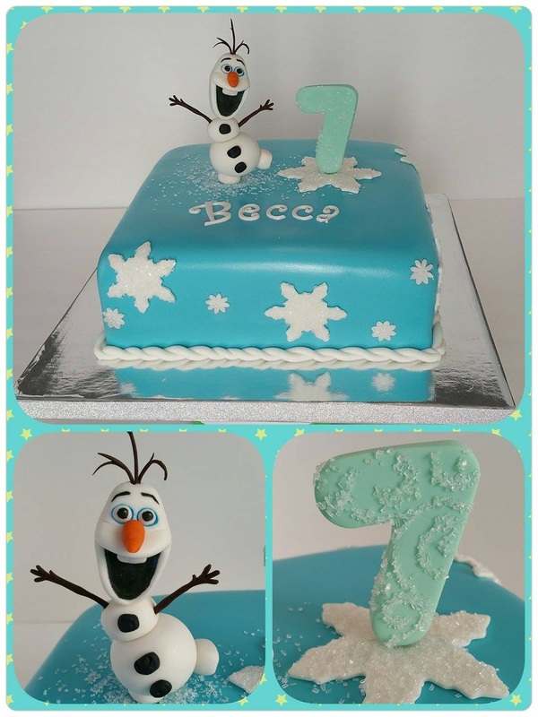 7th Birthday Olaf Cake
